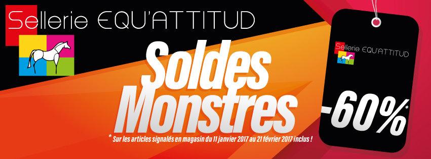 Bandeau Facebook Equ'attitud Soldes Monstres Odace Design