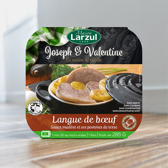 LARZUL - Packaging Langue de bœuf sauce madère