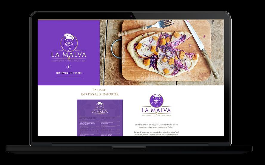 Site web Restaurant Pizzeria La Malva