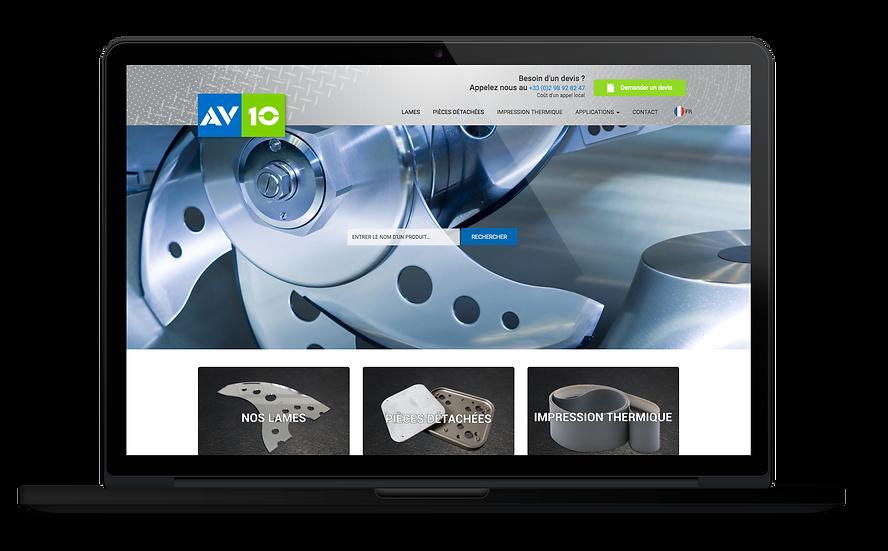 Site web AV10 Odace Design