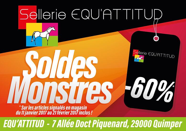 Affiche A3 Equ'attitud Soldes Monstres Odace Design