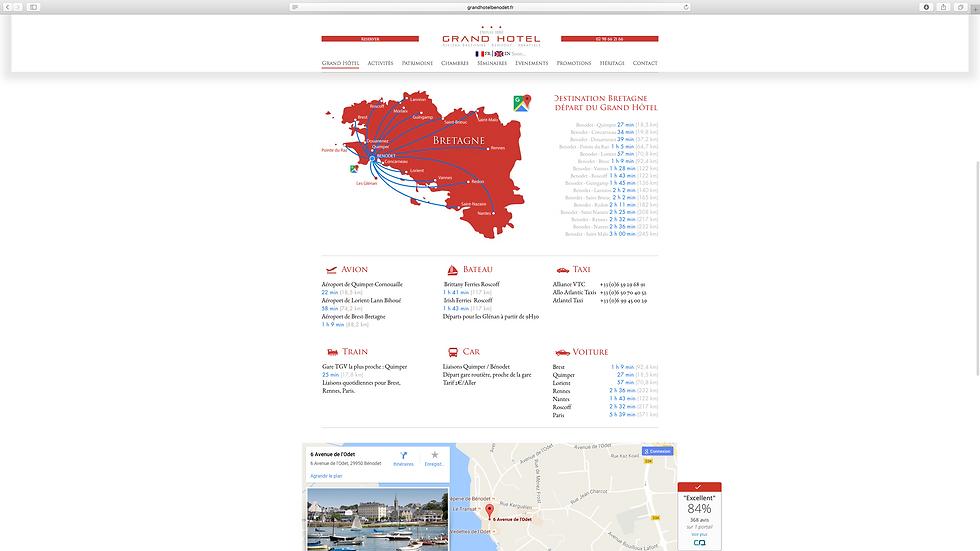 Site web Grand Hotel