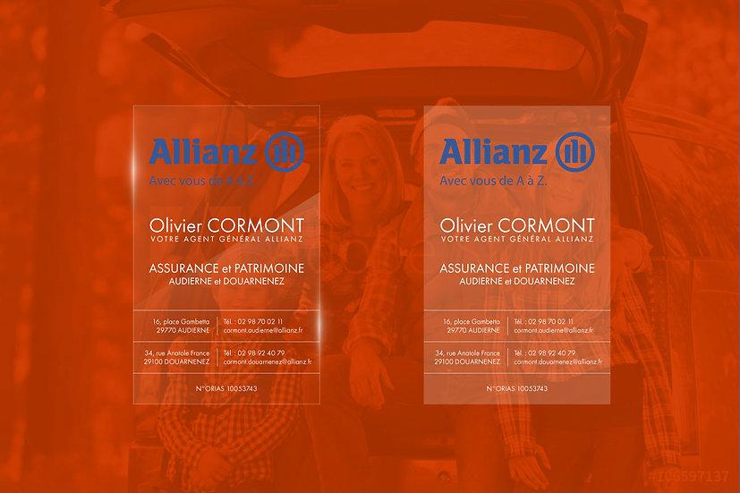 Carte de visite Allianz Odace Design