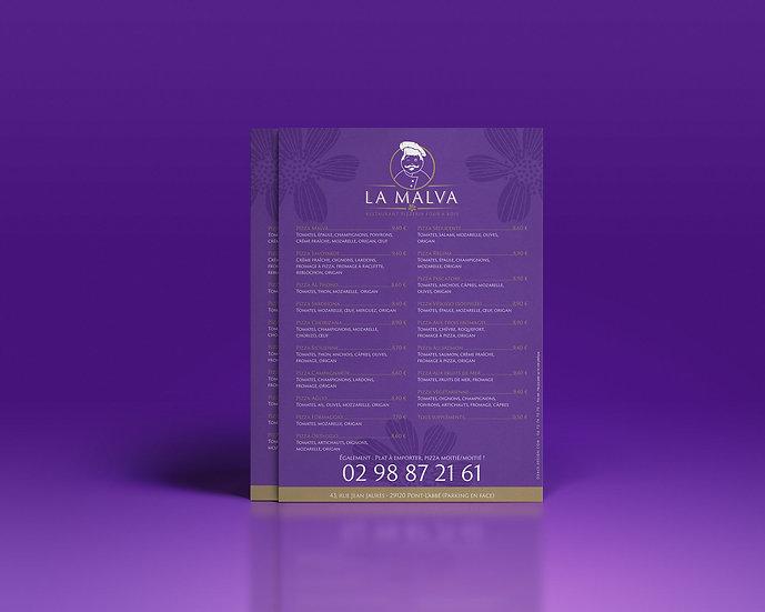 Flyer Restaurant La Malva