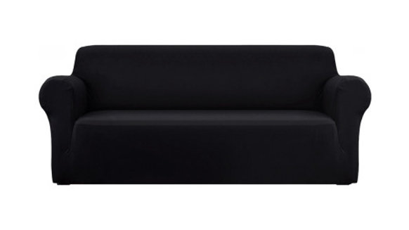 Artiss Sofa Cover Elastic Stretchable Couch Covers Black 4 Seater
