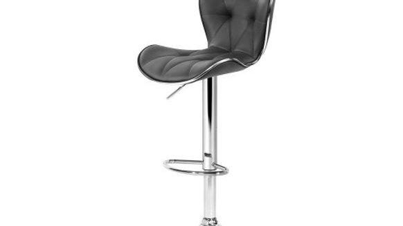 Artiss 2x Kitchen Bar Stools Gas Lift Stool Chairs Swivel Barstools Leather Grey