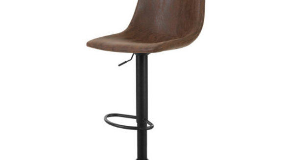 Artiss 2x Kitchen Bar Stools Gas Lift Bar Stool Chairs Swivel Vintage Leather Br
