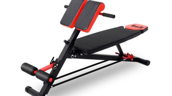 Everfit Adjustable Weight Bench Sit-up Fitness Flat Decline Home Gym Machine Ste