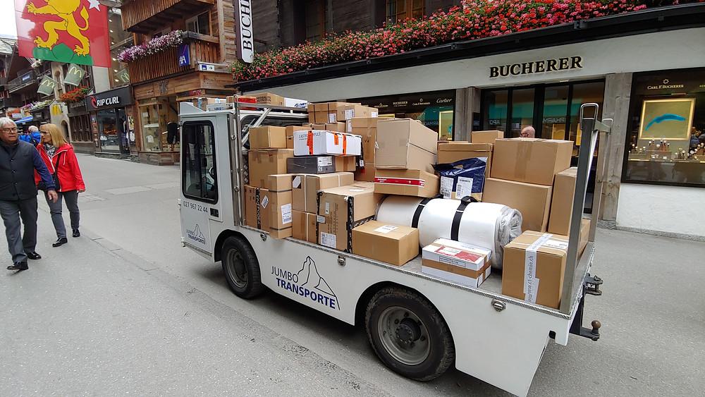 Deliveries in Zermatt. Photo, John Quain