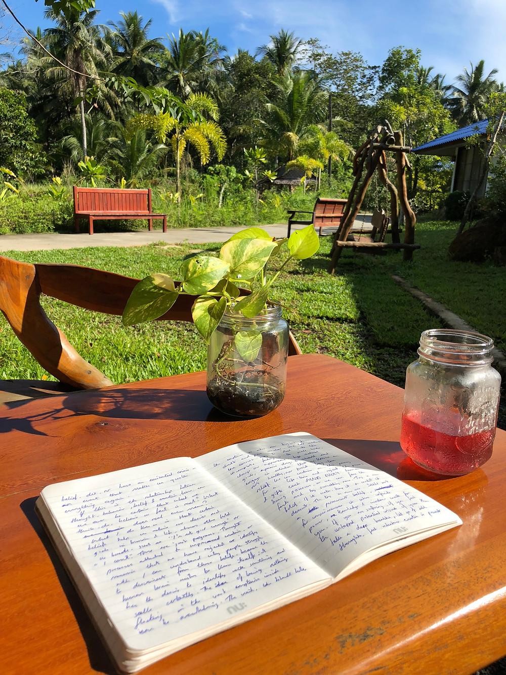 Wills journal in Ko Pha-Ngan