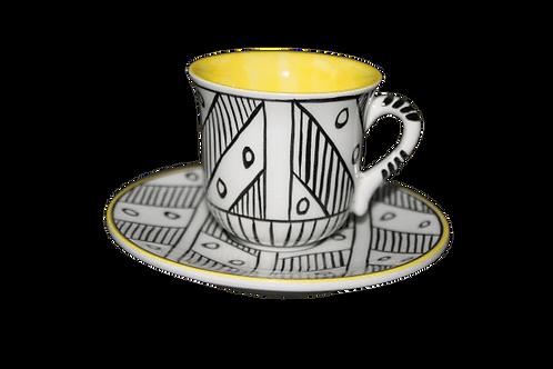 Nude Türk Kahvesi Seti/Sarı