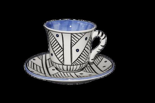 Nude Türk Kahvesi Seti / Mavi