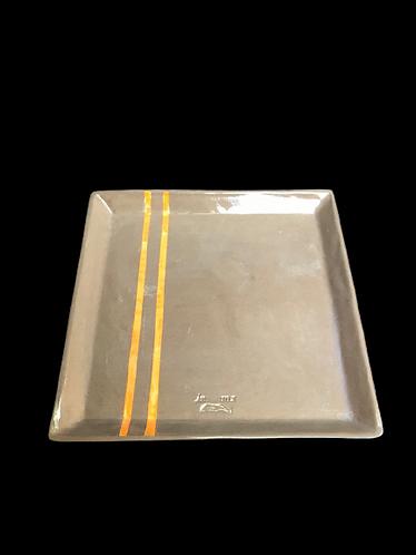 Stoneware Kare Tabak - Büyük