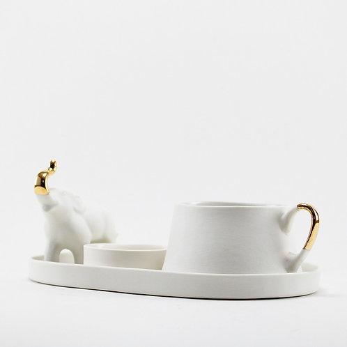 Pure White Elephant Filtre Kahve Seti
