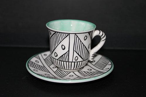 Nude Türk Kahvesi Seti /Yeşil