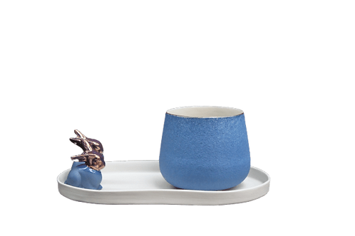 Royal Mavi Çay&Kahve Seti