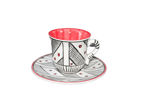 Nude Türk Kahvesi Seti / Kırmızı