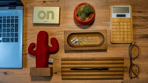 Woody Üçlü Set (Kırmızı-Koyu Kahverengi)