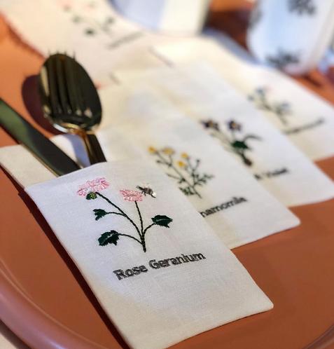 Floral Çatal-Bıçak Servisli / 4'lü set
