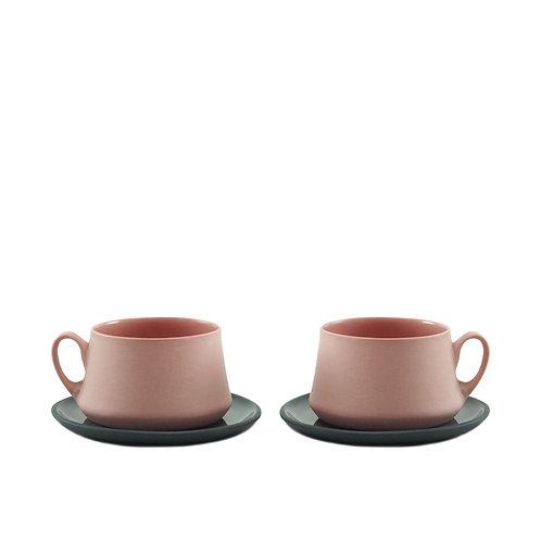 Black & Pink Flamingo - Çay&Kahve Seti