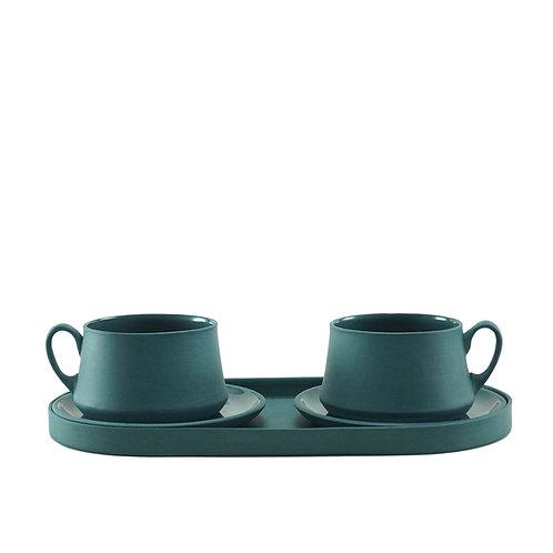 Teal Blue - Çay&Kahve Seti