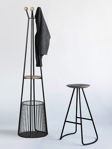 Sama Tel Şemsiyelikli Askılık | Siyah