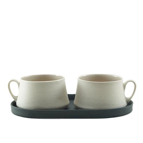 Black & White Pudra - Çay&Kahve Seti