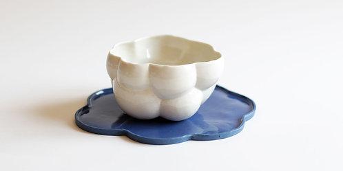 Amytis Fincan Beyaz-Mavi