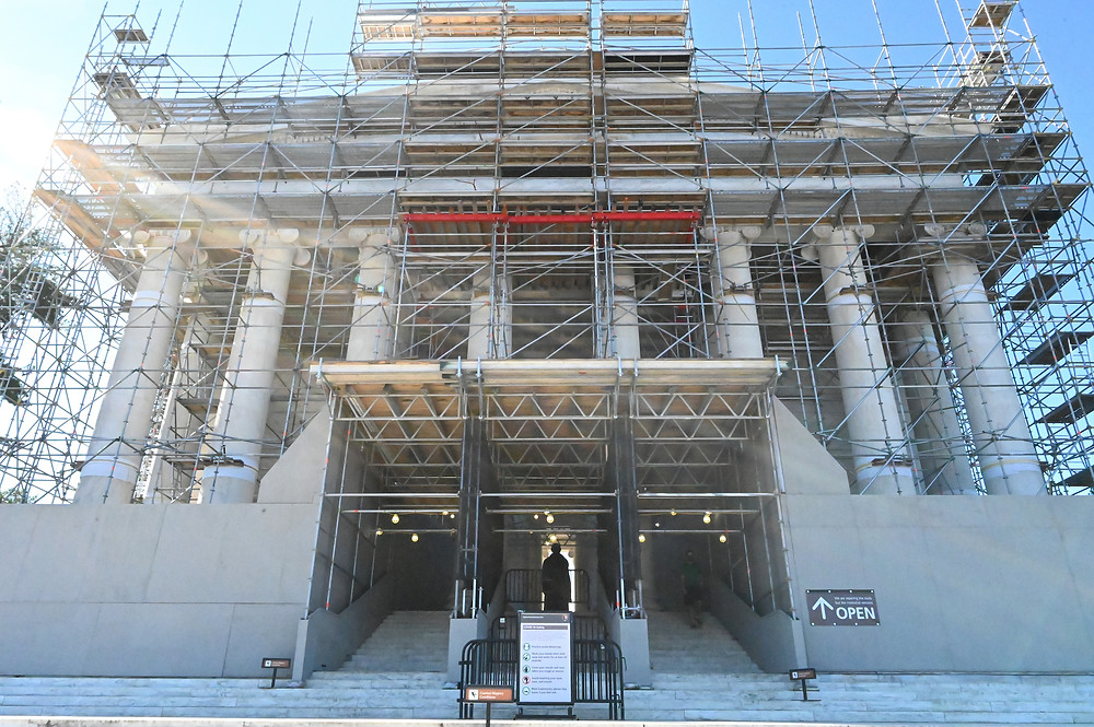 Jefferson Memorial renovation, Tidal Basin, National Mall