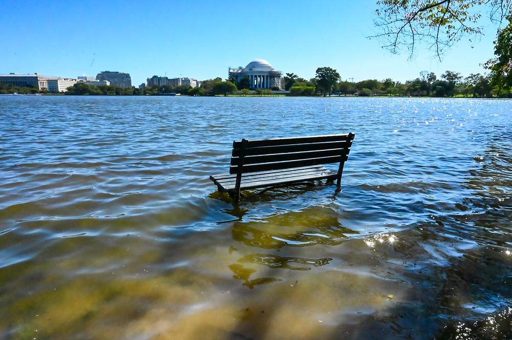 Jefferson Memorial flooding Park Potomac
