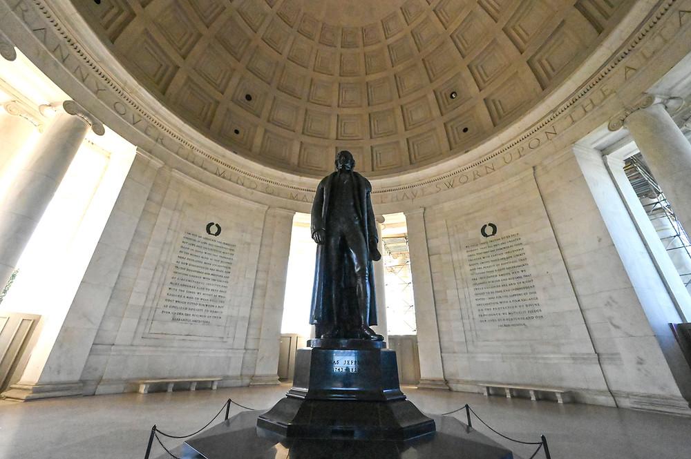 Thomas Jefferson Memorial renovation, National Park Service, Grunley construction