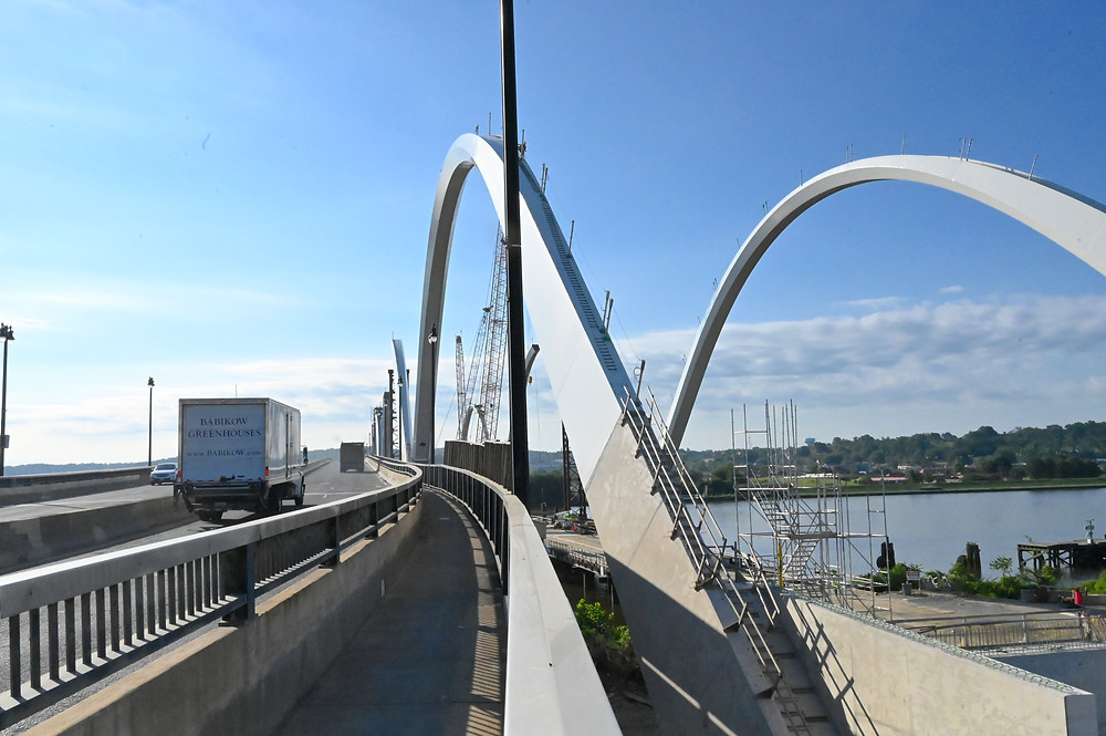 Frederick Douglass bridge arches construction update