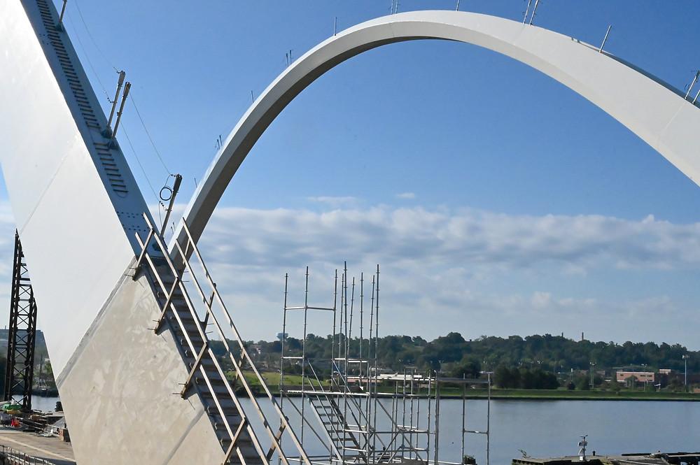 Frederick Douglass bridge arches construction update