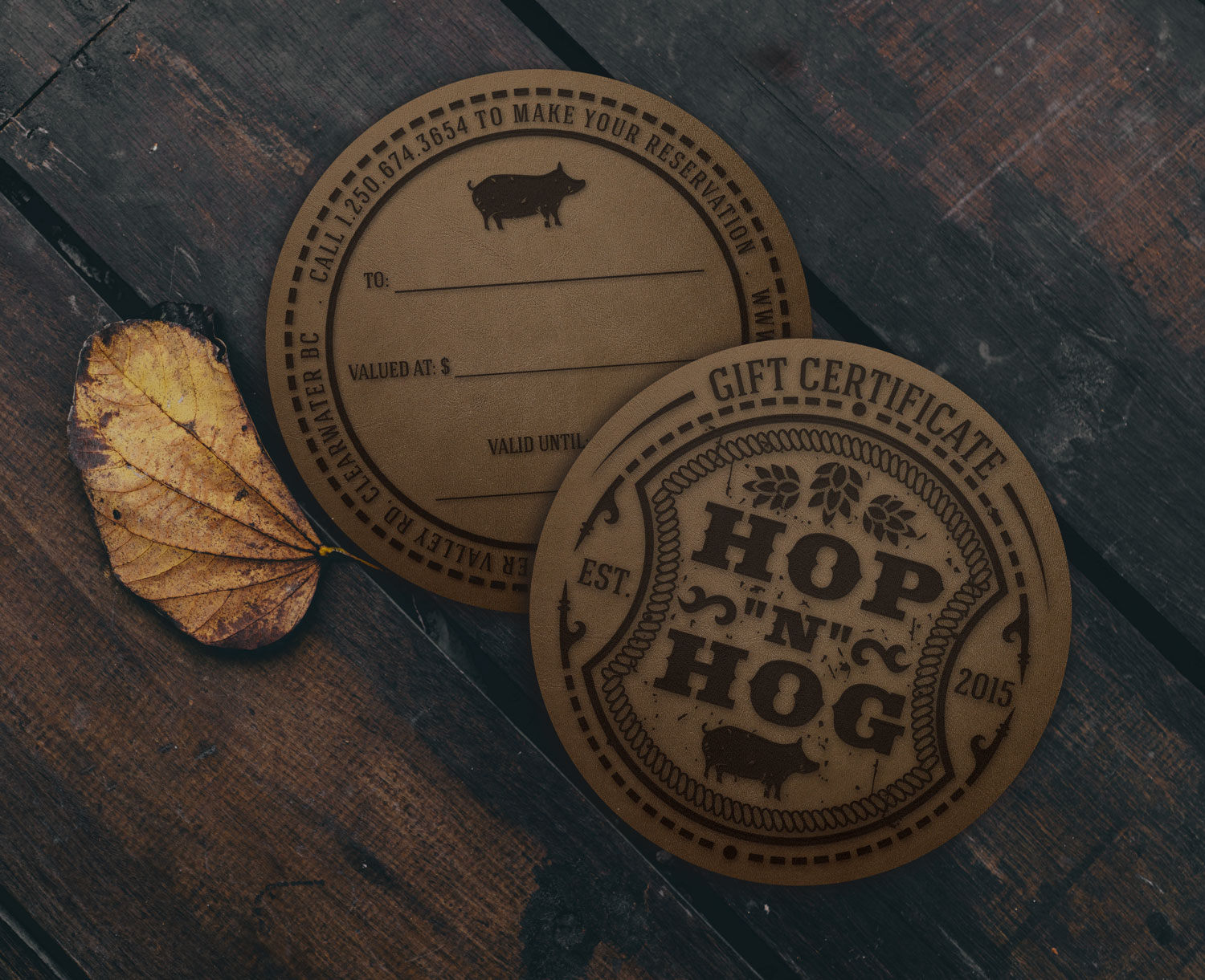 Gift Certificate Coasters