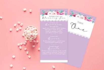 menu cards for business event