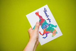 Thankyou card design for riding club