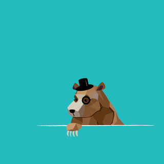 Bear with monocle