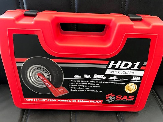 """SAS HD1 Insurance Approved Wheel Clamp - Complete With 2"""" Extension Bar"""