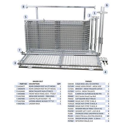 TT3017 Tipper Trailer Mesh Side Kit - KX6300/3017