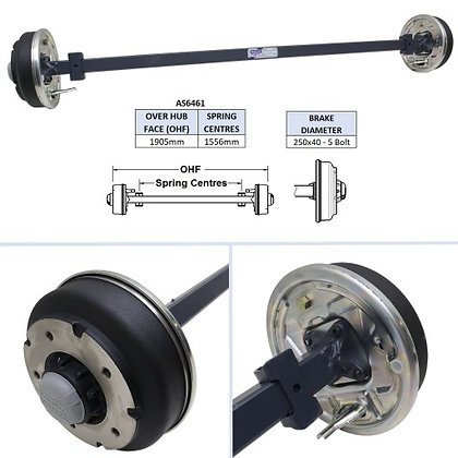 Ifor Williams AS6461 Complete Axle