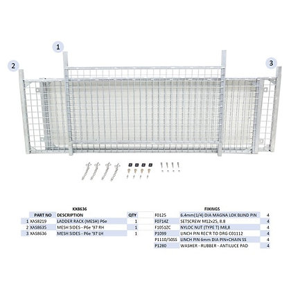 Ifor Williams Mesh Side Kit P6e/P6b - KX8636 *COLLECTION ONLY*
