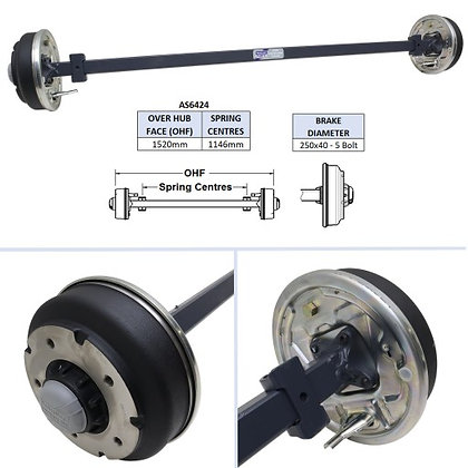 Ifor Williams AS6424 Complete Axle
