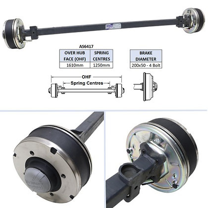 Ifor Williams AS6417 Complete Axle