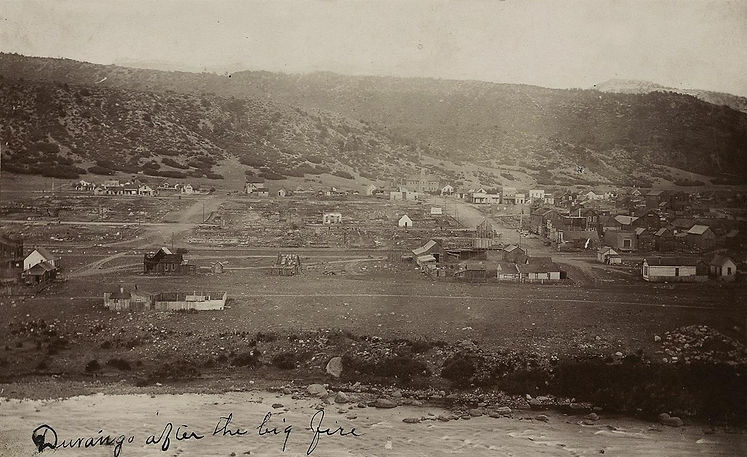 Durango after fire July 1 1889  Longfell
