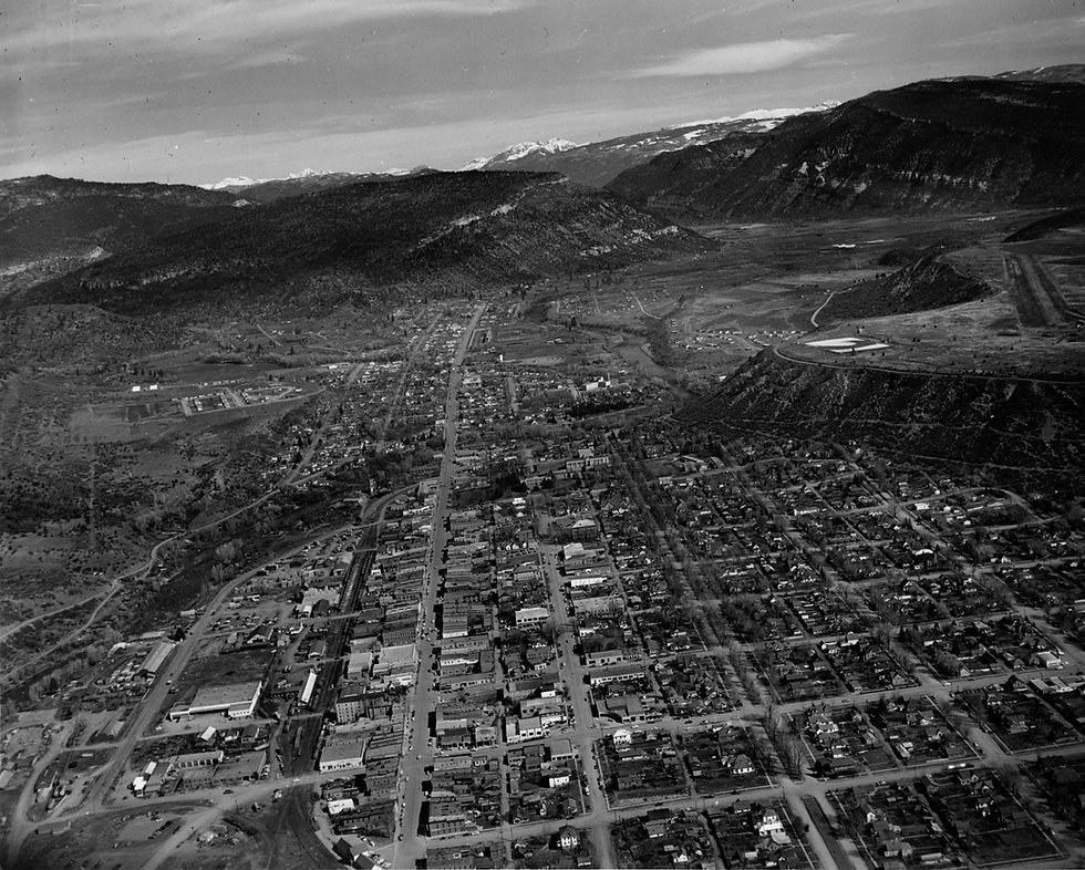 Historic Durango Colorado in 1956