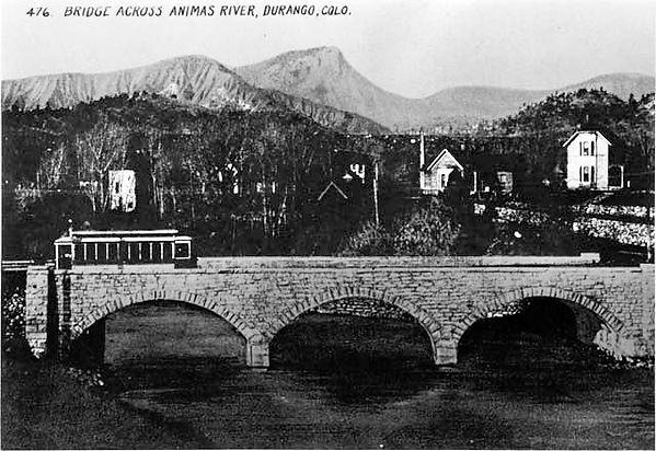 Stone Bridge across Animas River (Durang