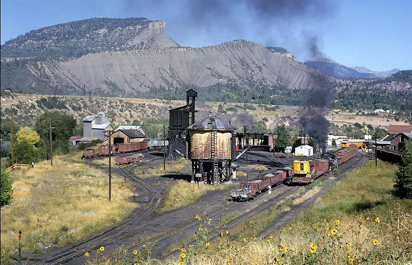 Durango rail yard 1965 Photo by John B.