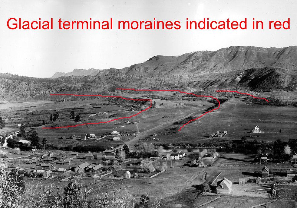 glacial terminal moraines durango colorado
