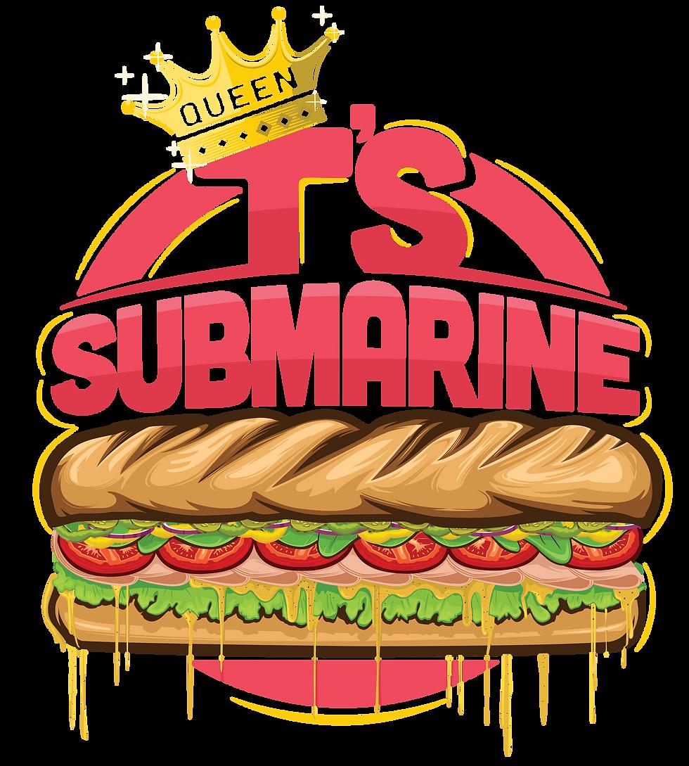 Queen T's Submarine Logo Final No outlin