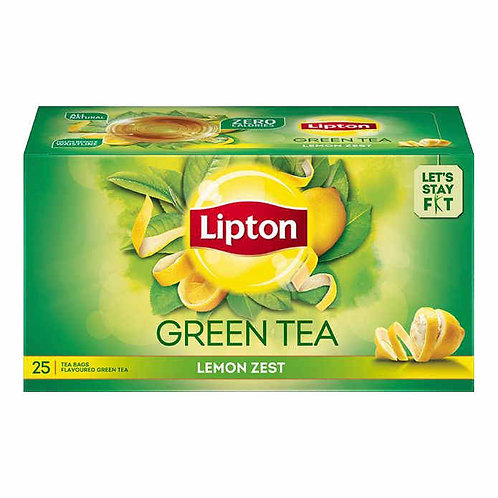 Lipton Green Tea - Lemon Zest : 25 Tea-Bags
